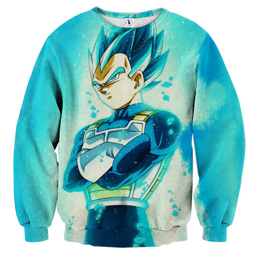 3D Printed Dragon Ball Vegeta Blue Flame Sweatshirt