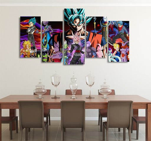 DBS Evil Enemies HD Asymmetrical 5pcs Wall Art Canvas Print