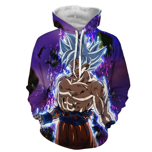 Dragon Ball Goku Ultra Instinct Power Up Vibrant 3D Hoodie
