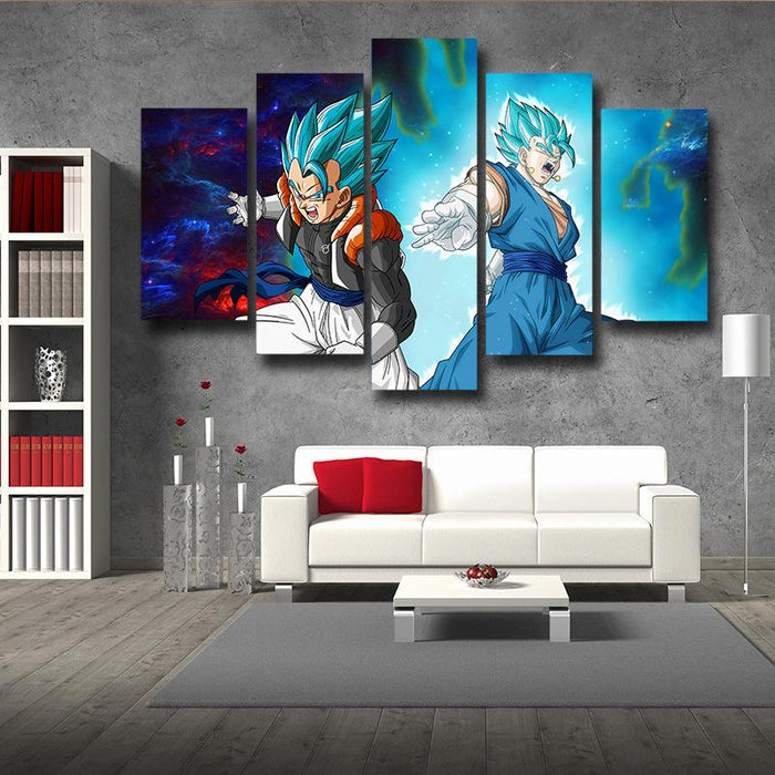 Dragon Ball Gogeta Vegito Cool Design Galaxy 5pc Wall Art Print
