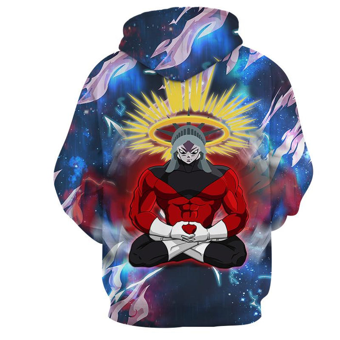 Dragon Ball Super Jiren The Gray Power Charge Print Hoodie