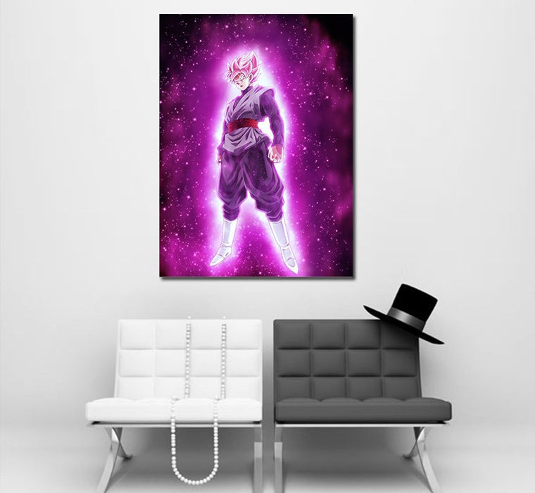 Super Saiyan Rose Cool Purple Glow Aura 1pc Wall Art Canvas Print