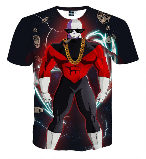 Dragon Ball Super Jiren Thug Life Swag Design Print T-shirt