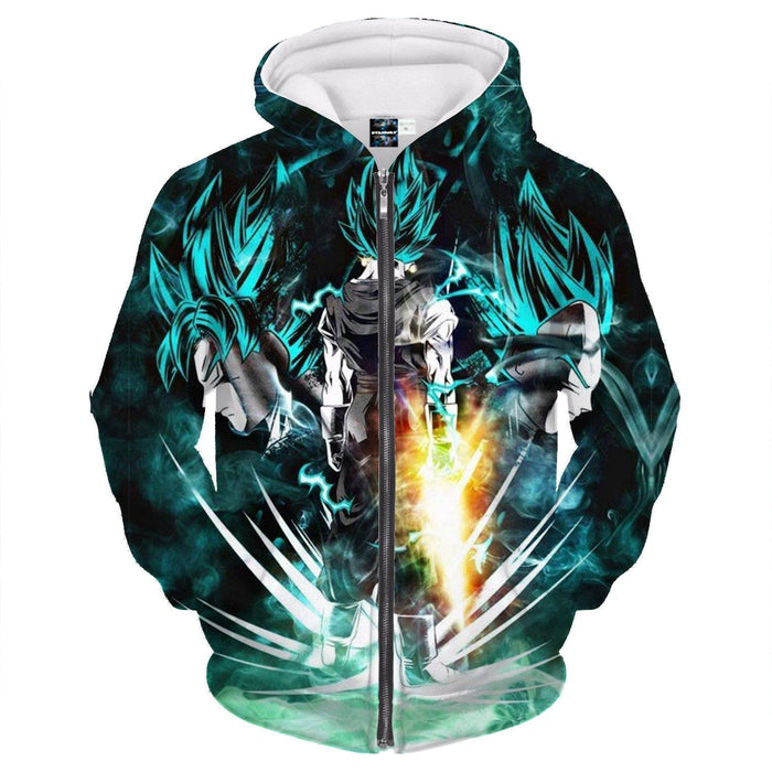 Vegito Fantastic Form Goku Vegeta Power Fashionable Zipper Hoodie