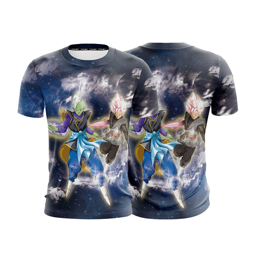 Zamasu And Goku Black Clouds Galaxy Full Print T-shirt