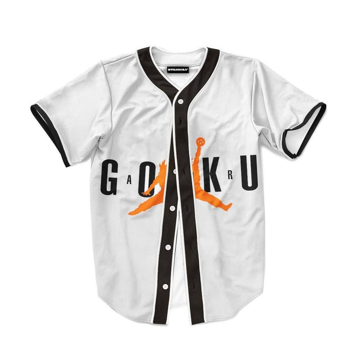 42507c66f Goku Jordan Jump Man Dragon Ball Cool Baseball Jersey — Saiyan Stuff