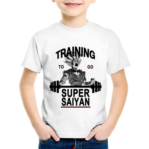 Dragon Ball Z Gohan Training To Go Super Saiyan Kids T-Shirt