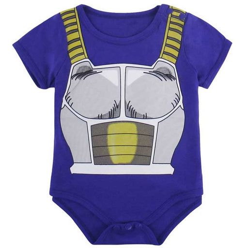 DBZ Vegeta's Battle Armor Cosplay Short Sleeve Baby Onesie