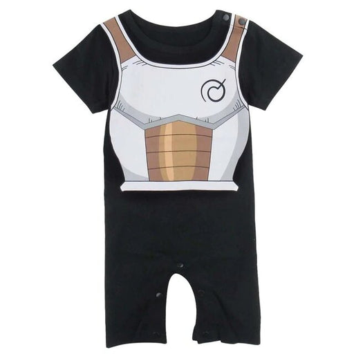 DBZ Vegeta's Armor Cosplay Short Sleeve Black Baby Jumpsuit