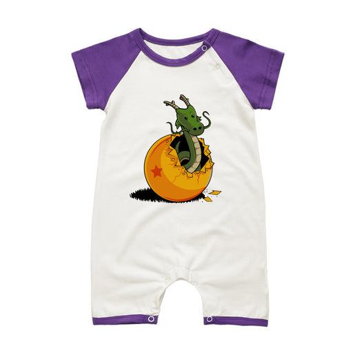 DBZ The Marvelous Shenron Purple Short Sleeve Baby Romper