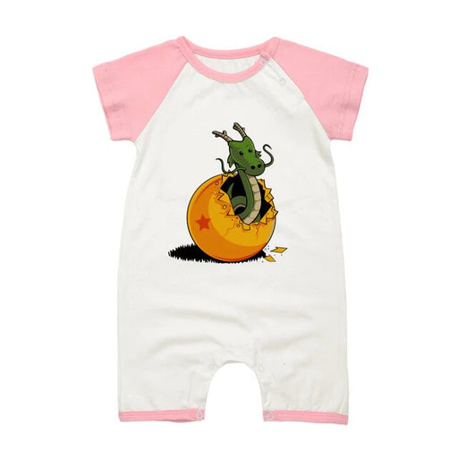 DBZ The Marvelous Shenron Pink Short Sleeve Baby Romper