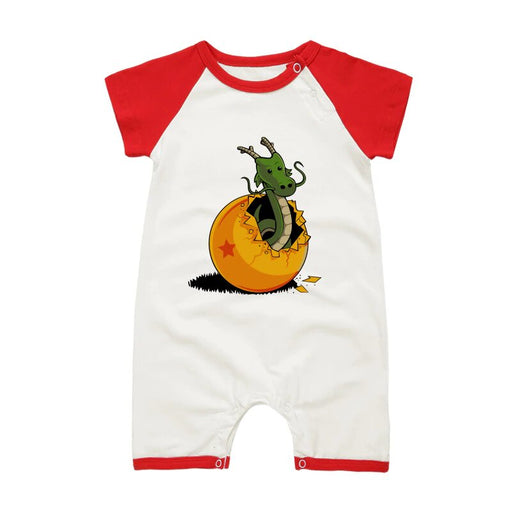 DBZ The Marvelous Shenron Red Short Sleeve Baby Romper