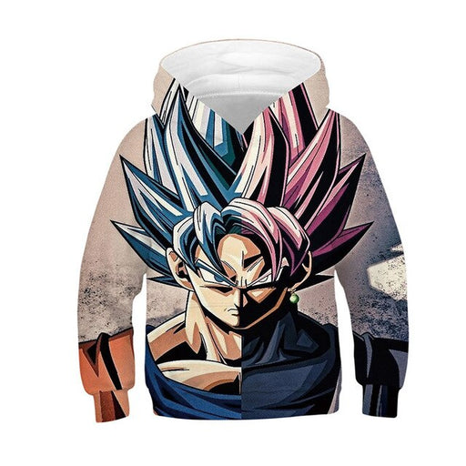 Dragon Ball Z Goku Super Saiyan God Blu & Red Kids Hoodie