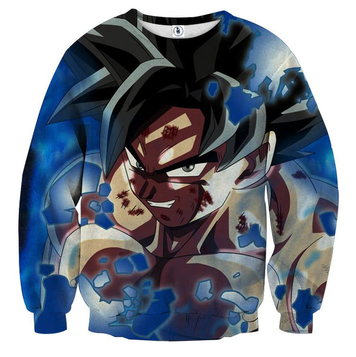 Dragon Ball Son Goku Dangerous Smile Unique Style Sweatshirt