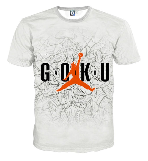 Dragon Ball Goku Jump Man Jordan Symbol Fashion T-shirt