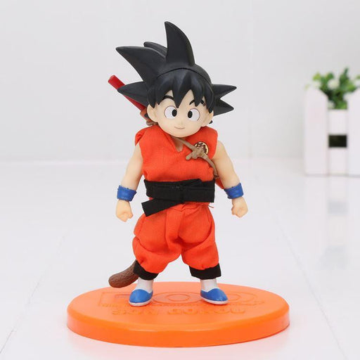 12cm Dragon Ball Z DOD Son Goku Child Ver Real Clothes PVC Action Figure - Saiyan Stuff - 1