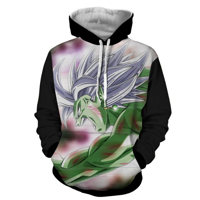 Dragon Ball Fused Zamasu Aggressive Portrait Dope Hoodie