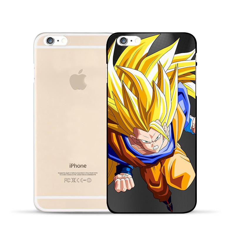Dragon Ball Goku Super Saiyan SSJ3 Angry Attack Hard PC iPhone 5 6 7 s Plus Case