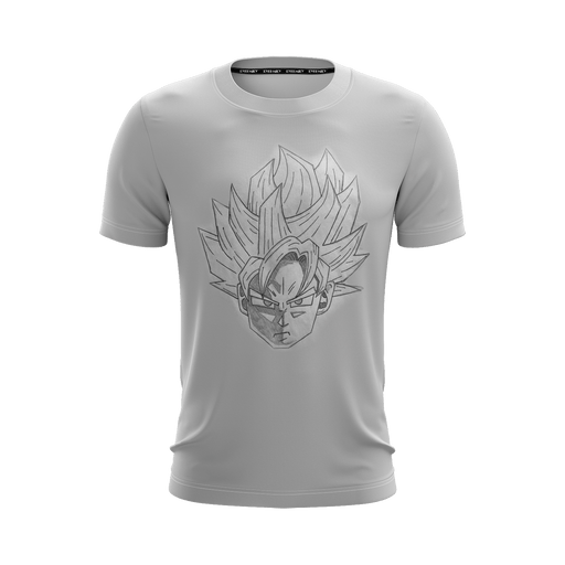 Dragon Ball Super Goku Blue Saiyan Doodle Fan Art T-Shirt