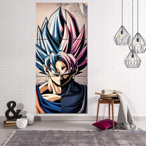 Dragon Ball Goku Super Saiyan Hero Japan Anime 3Pc Canvas Print