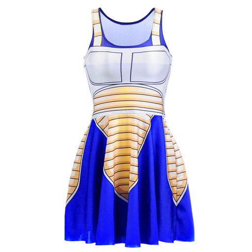 Dragon Ball Z Vegeta Saiyan Battle Armor Blue Cosplay Dress