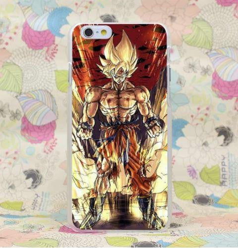 DBZ Goku Fan Art Style Super Saiyan Fight PC iPhone 4 5 6 7 8 Plus X Case