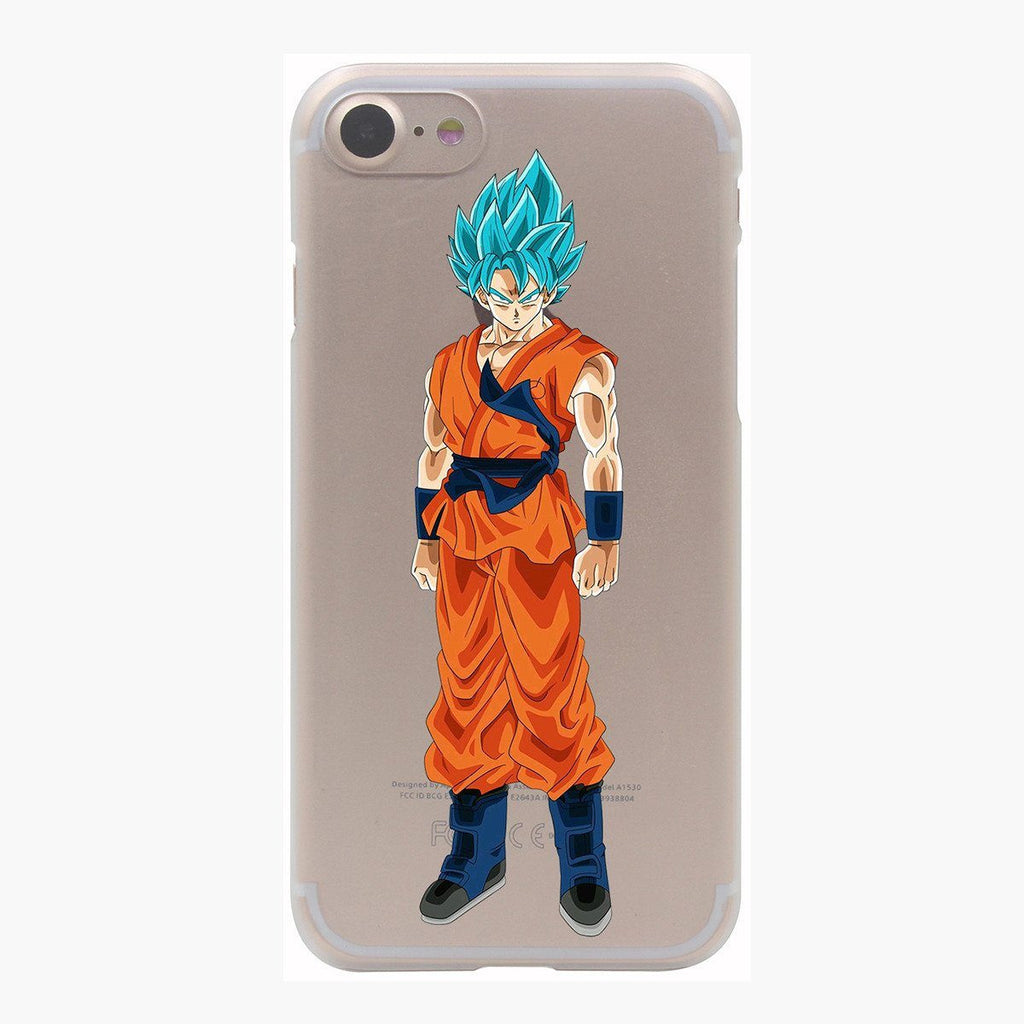 Dragon Ball Goku Saiyan God Blue SSGSS PC iPhone 4 5 6 7 s Plus Case