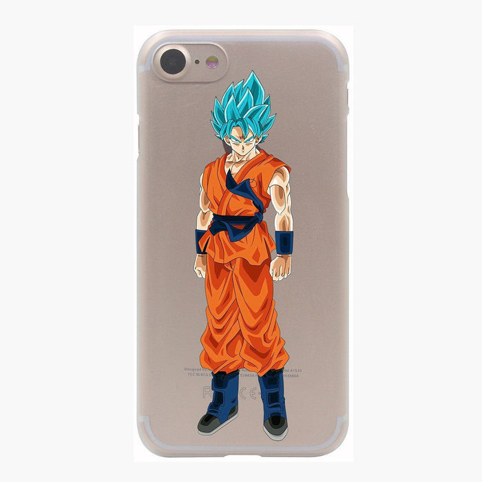 Dragon Ball Goku Saiyan God Blue SSGSS PC iPhone 4 5 6 7 8 Plus X Case