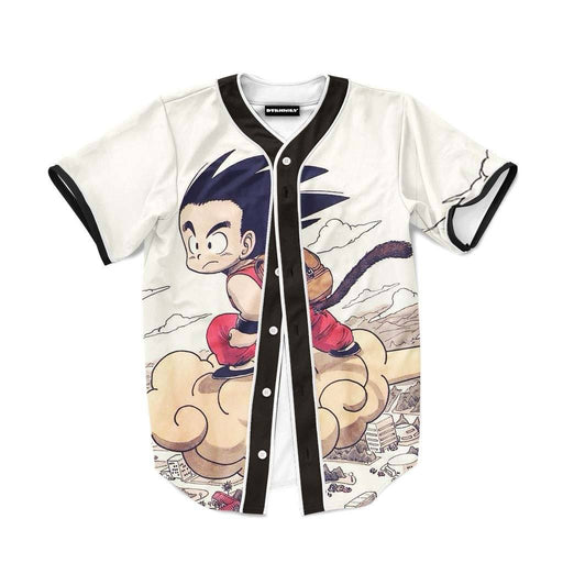 Flying Cute Kid Goku Cloud Nimbus Vintage Baseball Jersey