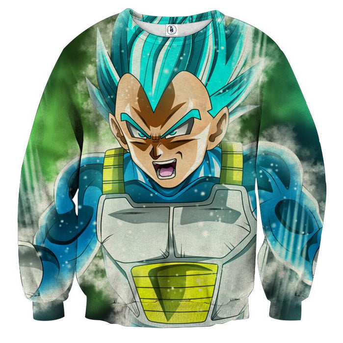 DBZ Vegeta Super Saiyan God Unique Style 3D Print Sweatshirt