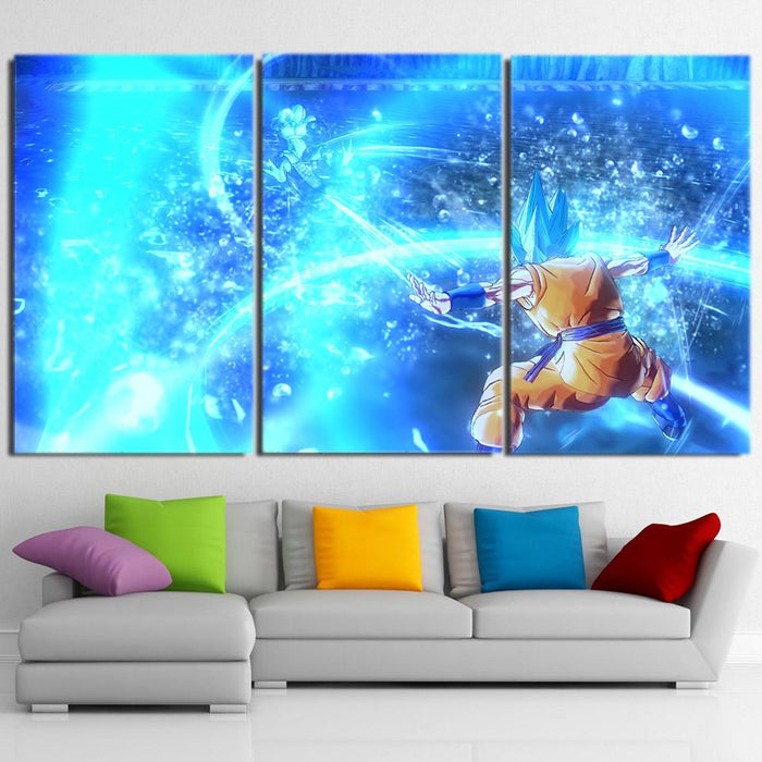 Dragon Ball Son Goku Super Saiyan God Cool 3pc Wall Art Print