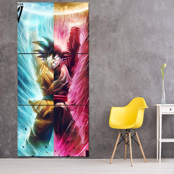 Goku Black Kakarot Spirit Bomb Destruction 3Pc Canvas Print