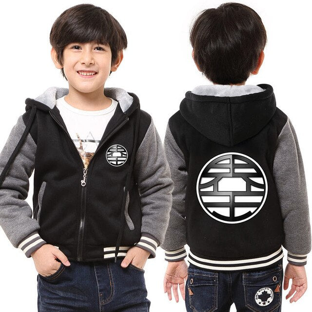 King Kai's World King Kanji Logo Comfy Kids Hooded Jacket