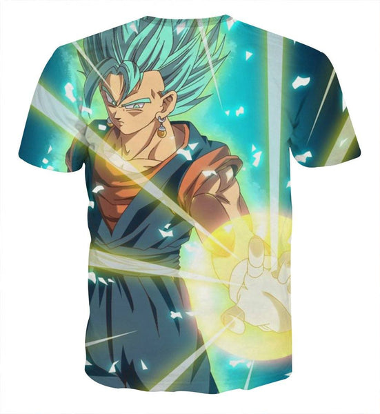 Dragon Ball Vegito Potara Ki Blast Cool 3D Full Print T