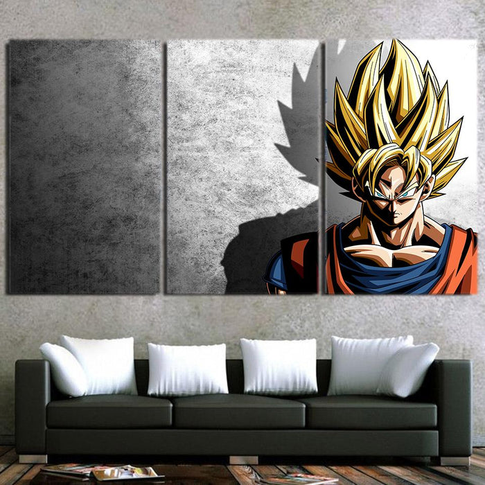 Dragon Ball Goku Super Saiyan Hero Japan Anime 3pc Canvas Prints