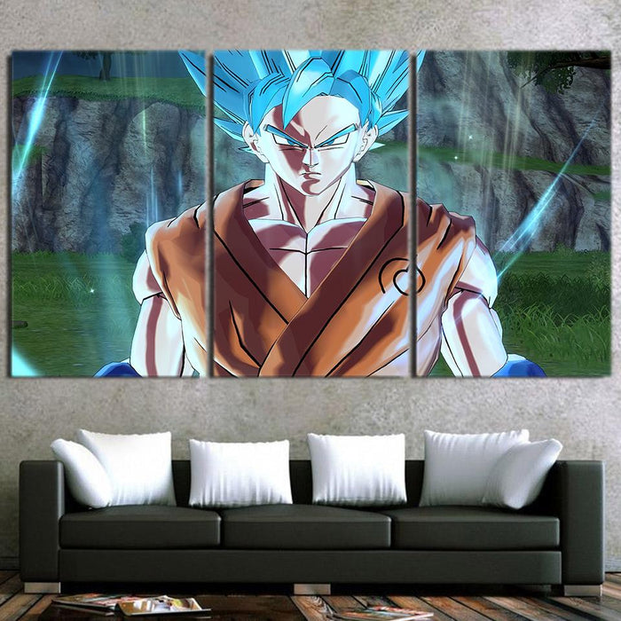 Dragon Ball Son Goku Resurrection F Cool Decor 3pc Canvas Print