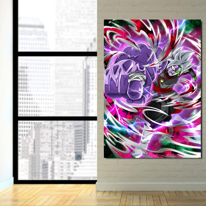 Dragon Ball Zamasu Fighting Dope Design 1Pc Canvas Print