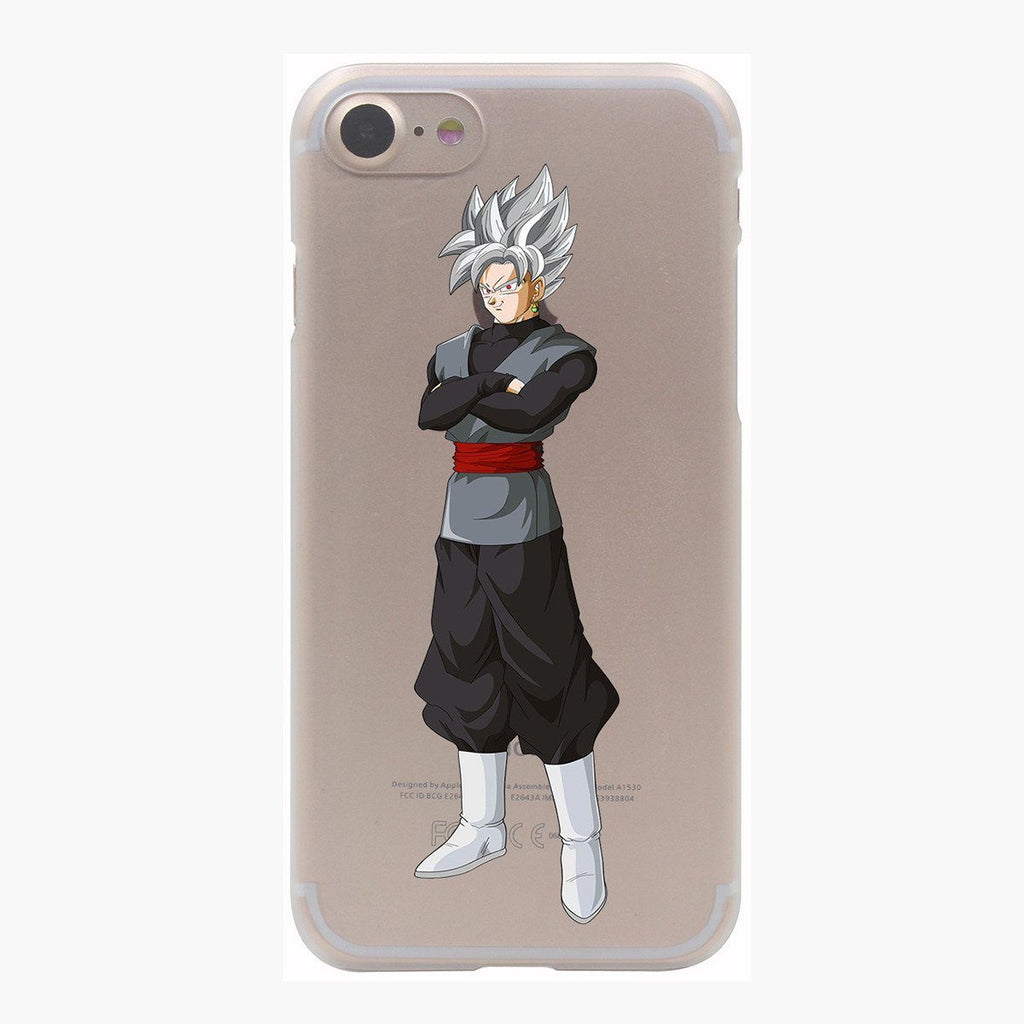 Dragon Ball Goku Black Zamasu SSJ1 Silver Hair PC iPhone 4 5 6 7 s Plus Case