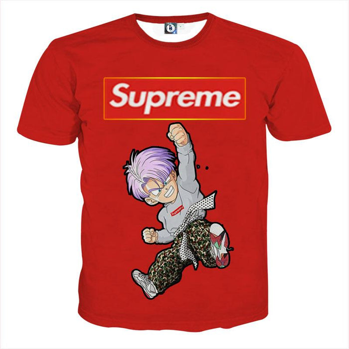 Supreme Kid Trunks Jumping Red Trendy Fashion T-shirt