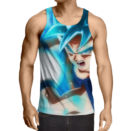 Dragon Ball DBZ Goku Super Saiyan God Blue Powerful Cool  Tank Top
