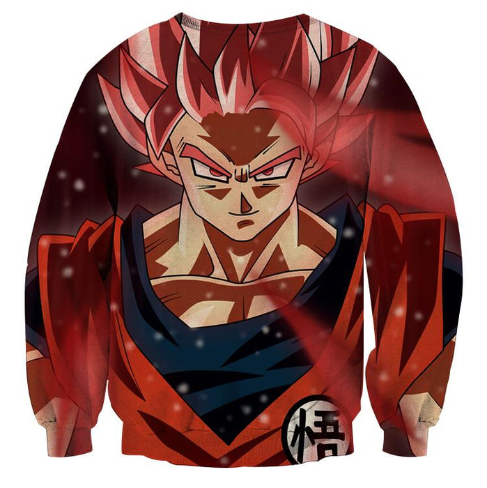 Dragon Ball Son Goku Super Saiyan Rose Portrait Cool Sweatshirt