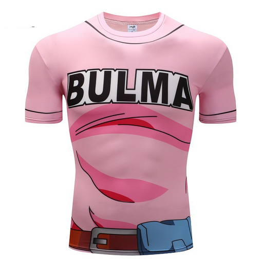 Bulma 97 Pink Dress Costume 3D Cosplay Women Fitness T-Shirt