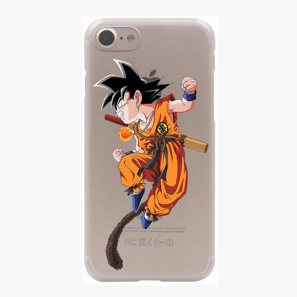 Dragon Ball Goku Kid Monkey Tail Fight Spirit PC iPhone 4 5 6 7 8 Plus X Case