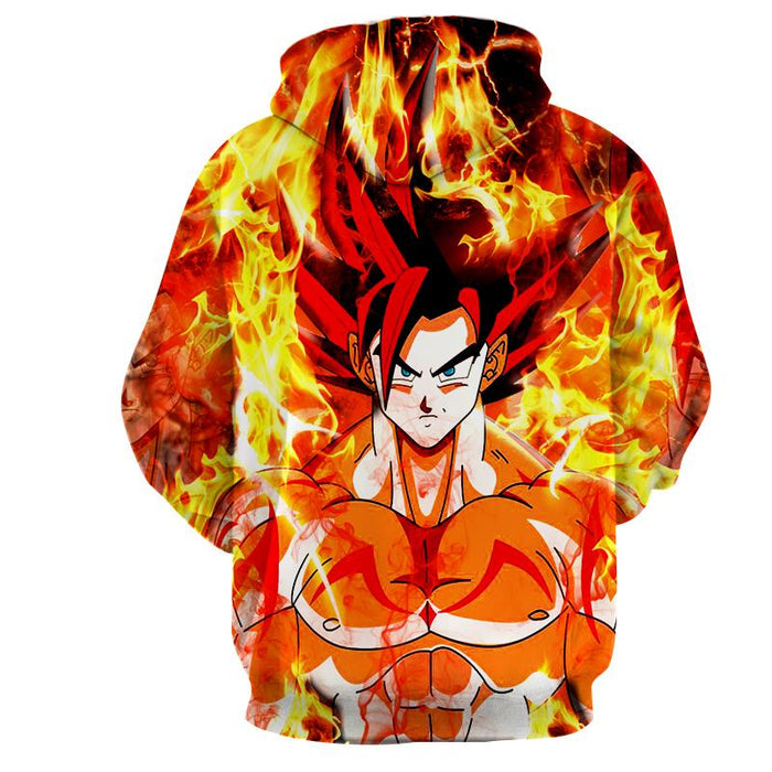 Dragon Ball Goku Super Saiyan Rose Flaming Fan Art Hoodie