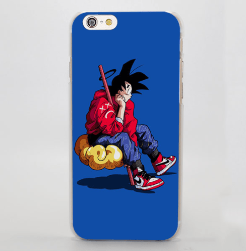 Angel Goku Sitting Cloud Nimbus Hip Hop Style iPhone 5 6 7 Plus Case