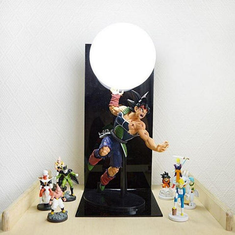 Bardock Saiyan Warrior Final Spirit Cannon Genki Dama DIY Lamp