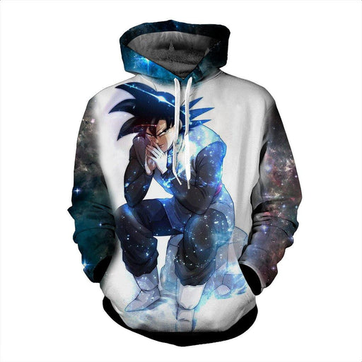 Blue Aura Evil Bad Sitting Goku Black Villain Dragon Ball Super Hoodie