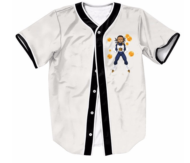 Boondocks Riley Gangsta Wearing Saiyan Amor 7 Dragon Balls Baseball Jersey - Saiyan Stuff