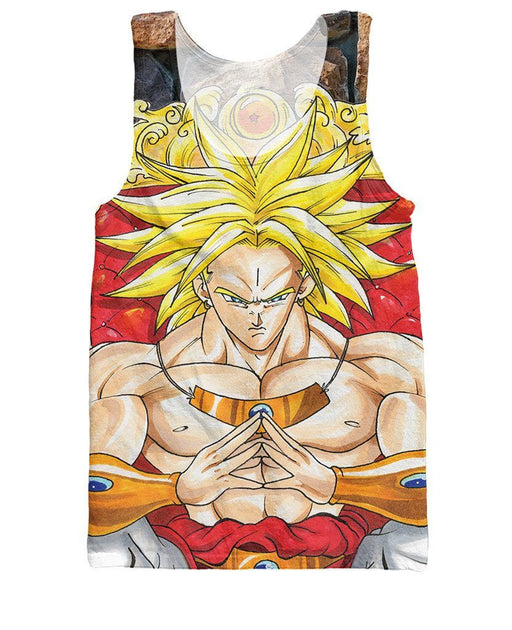 Broly Super Saiyan King Graphic 3D Stylish Tank Top - Saiyan Stuff