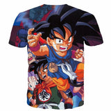 Bulma Yamcha Angry Kid Goku One of a Kind Dragonball 3D T-Shirt - Saiyan Stuff